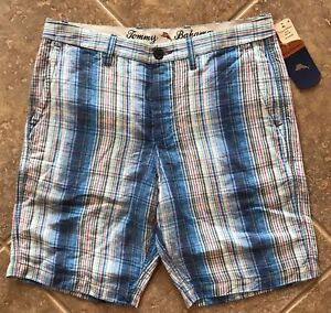 98 Nwt Pantaloncini Deep in Oceano Bahama 23793498809 Multi 35 misto Uomo Corallo lino Tommy Corallo HBOT7xwq