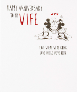 Minnie Mouse Happy Anniversary To My Wife Anniversary Card Disney