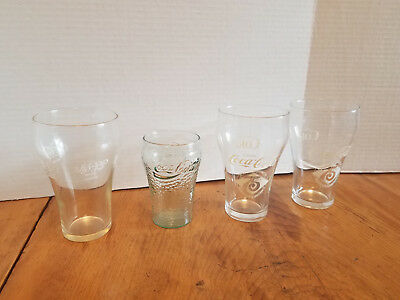 COCO-COLA GLASS DRINKING GLASS 75 TH ANNIVERSARY SMYTHE DIVISION  VTG.