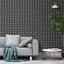 Black Grey Glitter Moon Wallpaper 2483