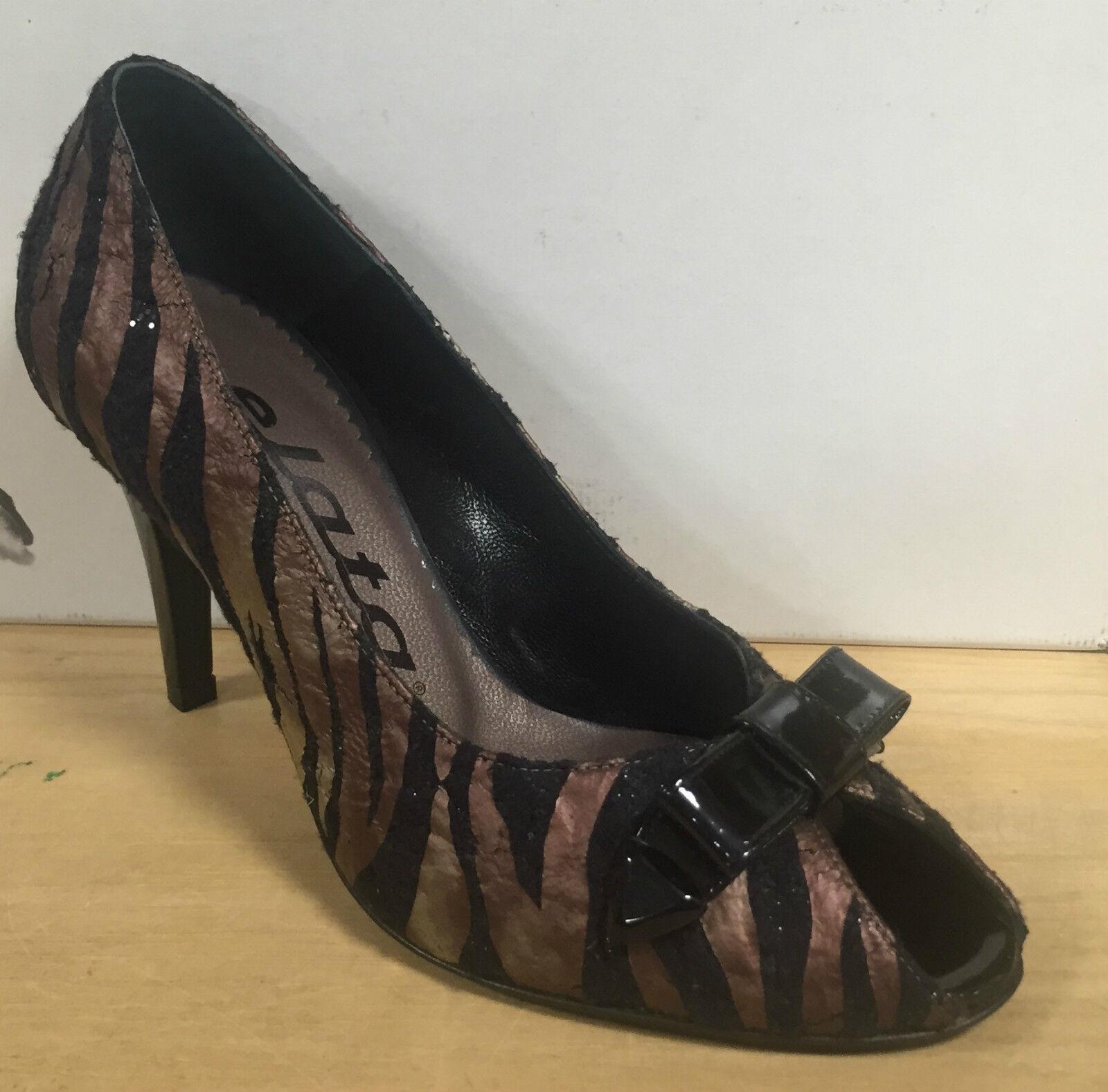 Descuento de liquidación ELATA Zapatos de mujer salón abierto en el consejo con lazo fantasía