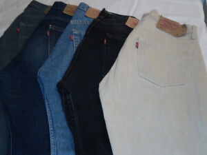 Jeans-LEVIS-501-Uomo-Levi-039-s-Strauss-Vintage-Used