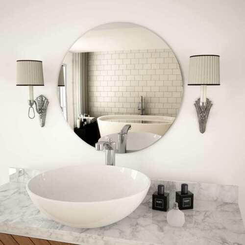"vidaXL Wall Mirror 23.6/"" Round Glass Bedroom Mirror Wall Dressing Room Mirror"