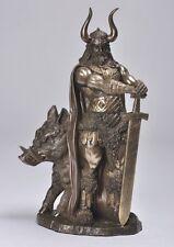 Freyr Statue Viking Norse God of Farming & Weather Odin Guardian Warrior Figure