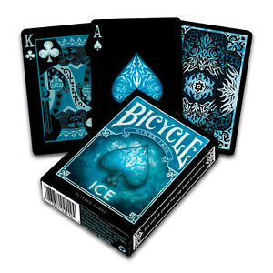 Bicycle-ICE-playing-cards-Standard-Poker-Glacial-USPCC-1-Deck-Black-Blue-USA