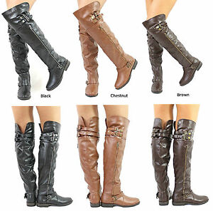 New Bamboo Montage-81 Zipper Round Toe Over the knee Thigh High