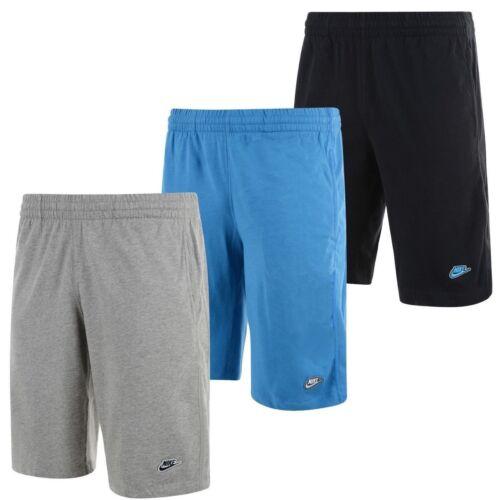 New Men/'s Nike Long Cotton Shorts Sports Gym Training Knee Length
