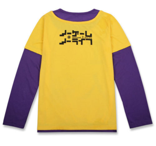 NO GAME NO LIFE Sora Long Short Sleeve T-shirt Tee Top Cosplay Costume