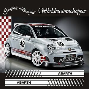 Details About Stickers Stickers Set Racing Fiat 500 Abarth Racing Sport Racing Tuning