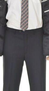 Alfani-Classic-Fit-Black-Double-pinstripe-Wool-amp-Cashmere-Blend-Dress-Pants-36W