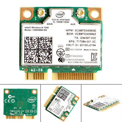Intel Wireless 7260HMW BN Half Mini PCIe PCI-Express WLAN WIFI Card Module 0y74h