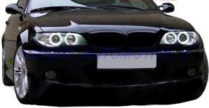 Dettagli Su Fari Neri Angel Eyes A Led Per Bmw E46 Coupe Restyling 2003 Al 2006