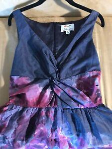 Lela-Rose-Neiman-Marcus-Target-Midi-Dress-Charcoal-Grey-Plum-Floral-Crinoline-6