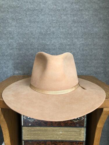 Vintage 1960s Stetson No1 Western Fedora Hat 7 3/8