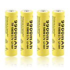4pcs 3.7V 18650 9900mah Li-ion Rechargeable Battery For LED Flashlight Torch MC