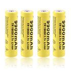 4pcs 3.7V 18650 9900mah Li-ion Rechargeable Battery For LED Flashlight Torch MC