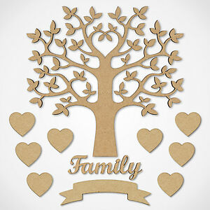 MDF-Family-Tree-Set-Kit-with-Tree-Hearts-and-Word-Wooden-Craft-Blank-Shapes