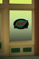 Breyers Ice Cream Neon Window Sign -can Be Trimmed As Small As .825 W X 0.9 T