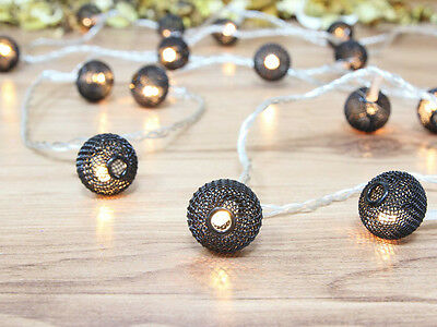Battery Operated Black Lantern Warm White LED String Lights,  Party Lights