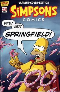 SIMPSONS-COMICS-200-deutsch-VARIANT-COVER-EDITION-lim-999-Ex-Comicfest-Muenchen