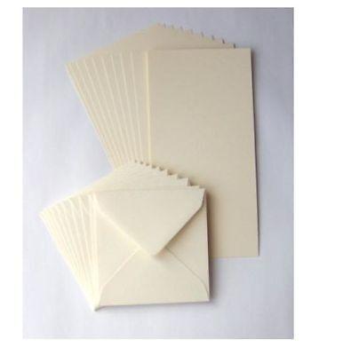 """10 Black 5/"""" Square Card Blanks 225gsm /& White Envelopes 100gsm NEW"""