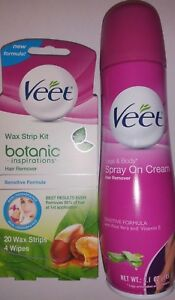 Veet Spray On Hair Removal Cream 5 1 Oz For Legs Body Bonus