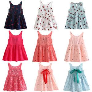 1623dd9805c94 Details about Toddler Girls Summer Princess Dress Kids Baby Party Wedding  Sleeveless Dresses