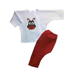 96527d924 Christmas Owl Unisex Baby Pants Shirt Clothing Set - 4 Preemie and ...