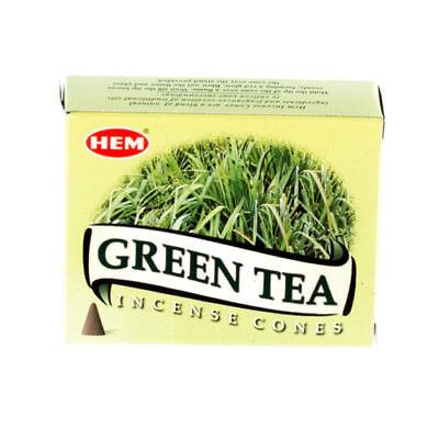 GREEN TEA HEM INCENSE CONES PACK OF 6 1 PACK=10 CONES