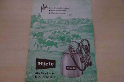 Miele Melkeimer Export Prospekt 05/1961 Aesthetic Appearance Nice 198282