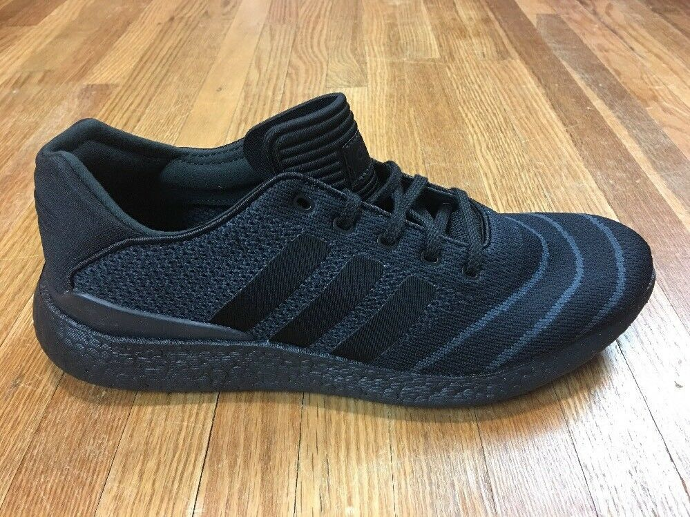 Adidas Mens Busenitz Pure Boost Prime Knit Black Shoes Sz 9.5 Triple Black Knit Boost b6fc58