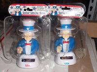 (2 Pack)solar Powered Dancing Patriotic Uncle Sam