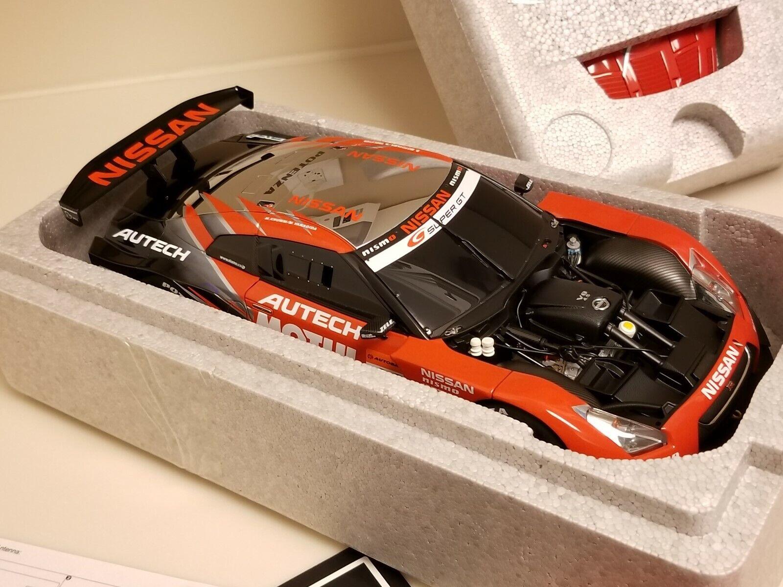 bilkonst 1  18 Nissan GT -R tävlings Super GT 2008 LAUNCH Version 80879 NEW