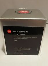 Leica ELMAR-M 50mm f/2.8Lens- Black