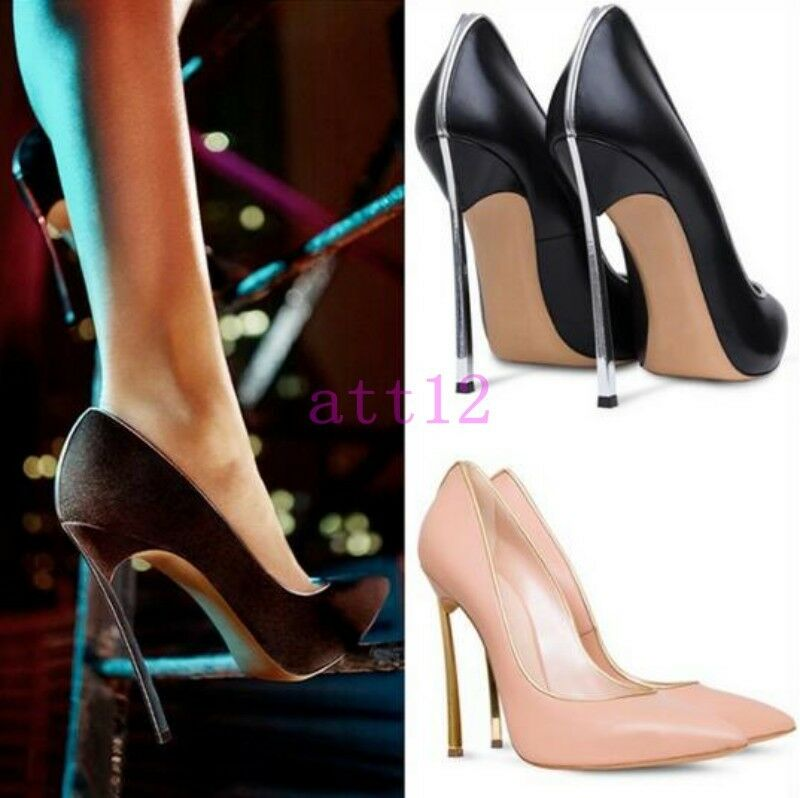 Womens Pumps Nightclub Stiletto Pull On High Heel Pointed Toe Sexy Party shoes
