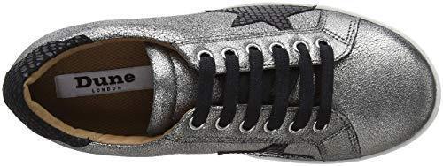 6 4 3 Taglia da vera Scarpe Argento Edris in pelle Dune Peltro ginnastica piatte Scarpe 8 Sneakers q6OF47Zx