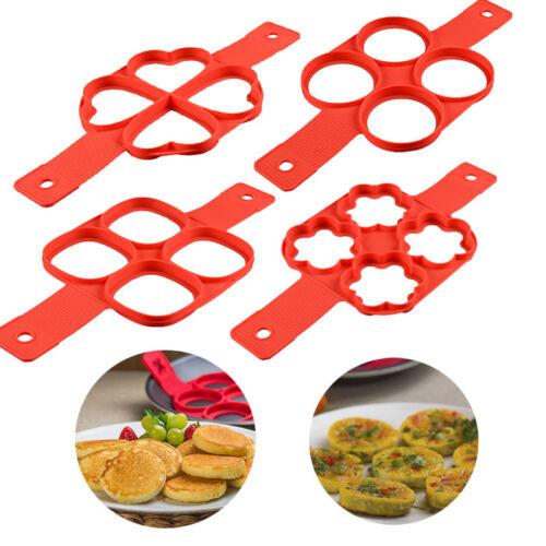 Nonstick Silicone Pancake Egg Maker Mold Omelette Egg Ring Cooker Pan Flip Mould