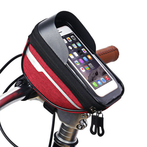 """Waterproof Bicycle Bike 6/"""" Mount Phone Holder Case Bag Pouch Cover for Mobiles"""