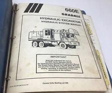 Gradall G660e Hydraulic Excavator Hydraulic System Service Manual Free Ship