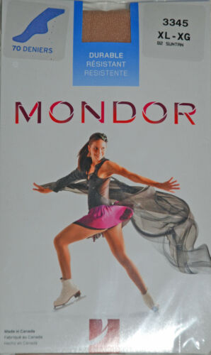 Mondor Suntan 3345 Footed Ice Skating Tights Practice Figure Skater Tights