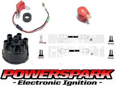 Jaguar E-Type 3.8 Electronic Ignition Leads Cap Rotor for lucas 45D6 Distributor