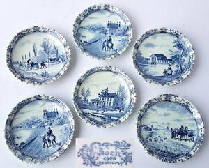 Set-6-Decorative-Plate-Boch-1897-Belgium-AL1009