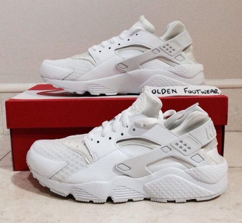 Nike air huarache le, édition limitée, triple blanc taille 10 uk blanc platine-