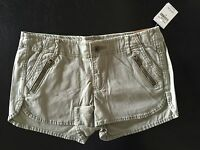 Hollister Low Rise Short-short With Zipper Pocket In Light Olive Size 00