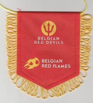 Orig.wimpel Belgien Fussball Verband / Red Devils + Red Flames !! Selten SorgfäLtig AusgewäHlte Materialien