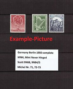 Berlin-Complete-Year-1950-MNH-Stamps-Germany-Yearset-9N68-9NB4-9NB5