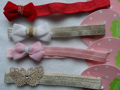 Ragazze/baby Cerchietto, Headbow, Nuovo Bambino/damigella/battesimo/1st/regali Di Compleanno-ow,new Baby/flower Girl/christening/1st Birthday/gifts It-it Mostra Il Titolo Originale