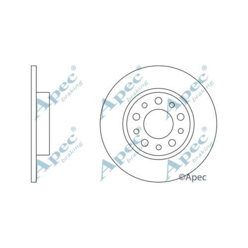Fits Fiat 500X 2.0D Multijet 4x4 Genuine Apec Rear Solid Brake Discs Set