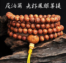 8mm Tibetan Buddhism 108 Old small Phoenix eyes Bodhi seeds Mala Necklace/bangle
