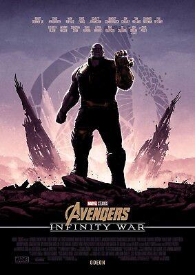 Avengers Infinity War Uk Odeon Cinemas Poster Thanos Marvel Ebay